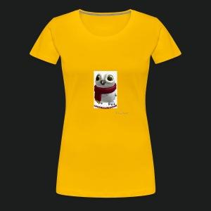 Merch white snow owl - Vrouwen Premium T-shirt