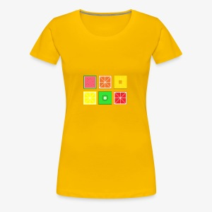 DIGITAL FRUITS - Pixel Frucht - Frauen Premium T-Shirt