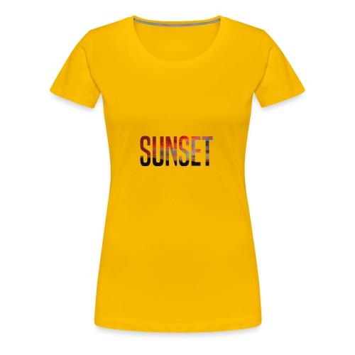 sunset - T-shirt Premium Femme