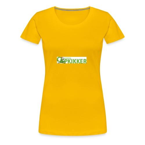 Logo Opkikker - Vrouwen Premium T-shirt