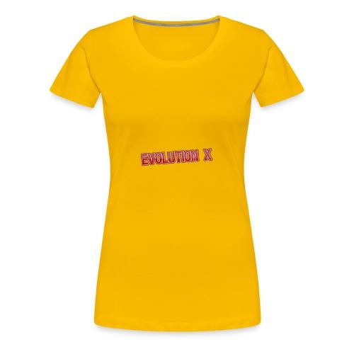 Evolution X Logo Rot - Frauen Premium T-Shirt