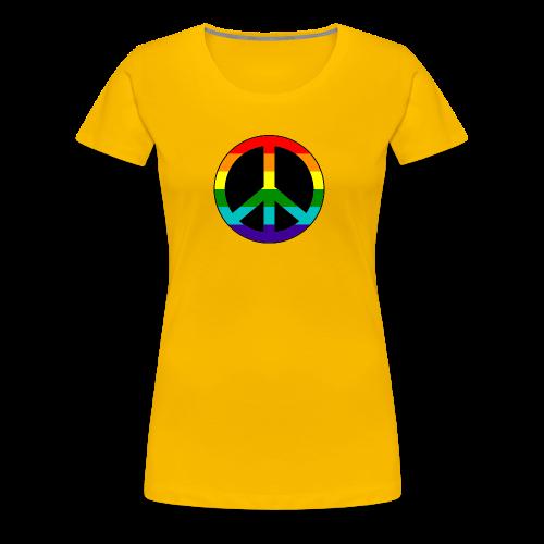 Gay pride peace symbool in regenboog kleuren - Vrouwen Premium T-shirt