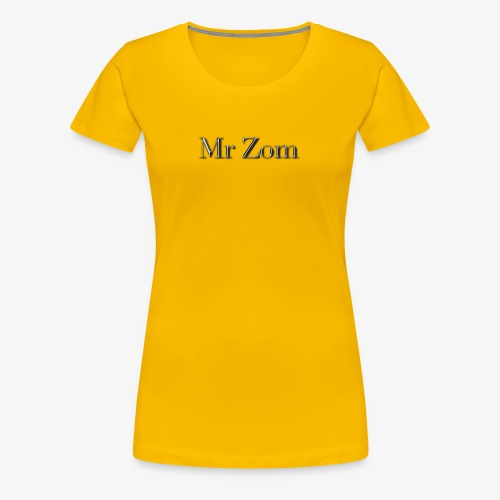Mr Zom Text - Women's Premium T-Shirt