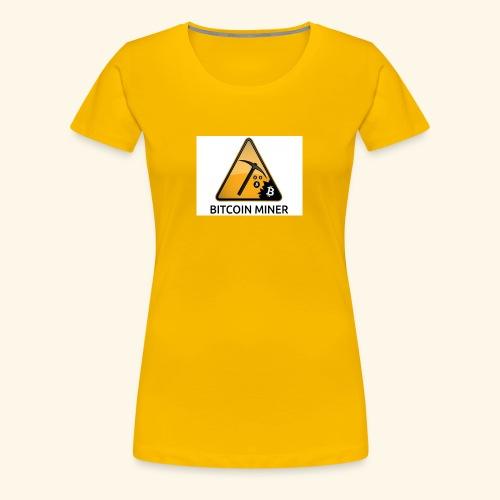 BITCOIN MINER - Koszulka damska Premium