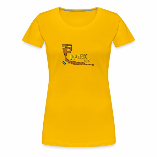 Chocolate Bleach Drink Me - Women's Premium T-Shirt