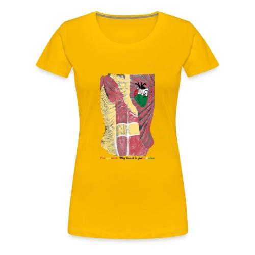 CamisetaMy heart is palestinian versión española - Camiseta premium mujer