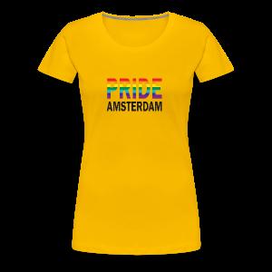 Pride Amsterdam in regenboog kleur en zwart - Vrouwen Premium T-shirt