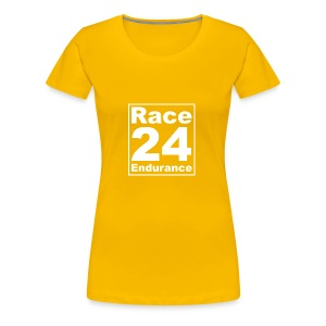 Race24 Logo - White - Women's Premium T-Shirt