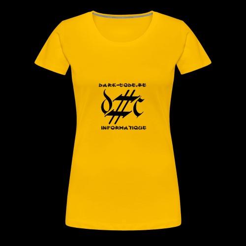 Dark-Code Black Gothic Logo - T-shirt Premium Femme