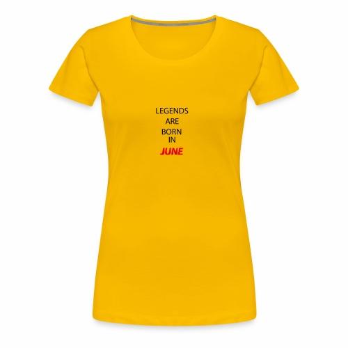 June - Frauen Premium T-Shirt