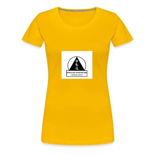 Logga Karlstad Aikidoklubb - Premium-T-shirt dam
