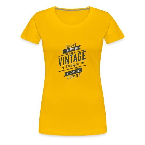 Vintage Design dark - Women's Premium T-Shirt