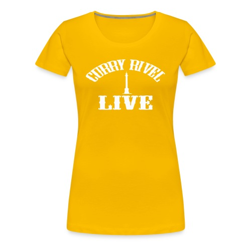 CURRY RIVEL LIVE LOGO WHITE - Women's Premium T-Shirt