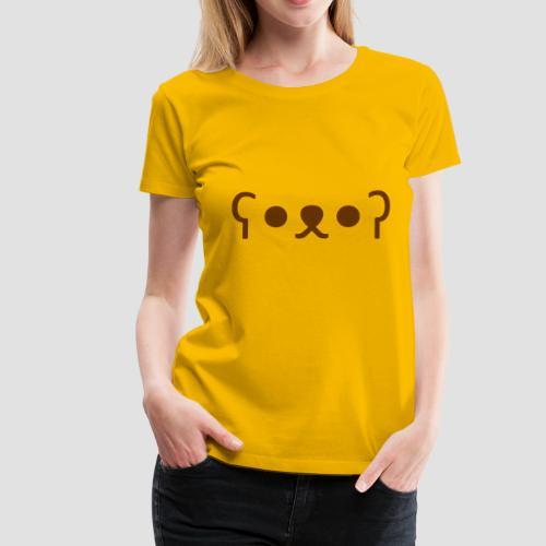 Kuma Kaomoji (Marron) - T-shirt Premium Femme
