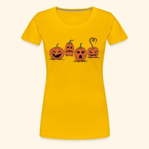 Pumpkin gear - Pumpkin gear on Halloween - Women's Premium T-Shirt