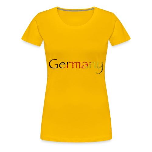 DeutschlandSchriftzug Schräg - Frauen Premium T-Shirt