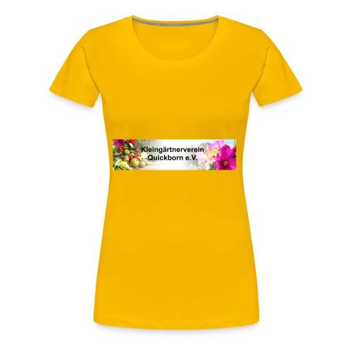 Banner Kleingärtnerverein Quickborn - Frauen Premium T-Shirt