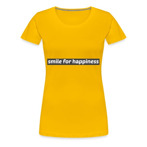 smile for happiness - Premium-T-shirt dam