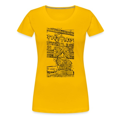 Faded Buddha Tee - Frauen Premium T-Shirt