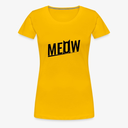 Meow black - Koszulka damska Premium