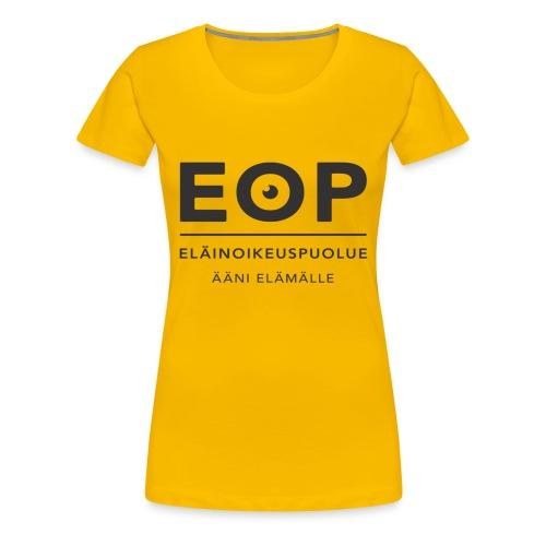 EOP Logo slogan musta - Naisten premium t-paita