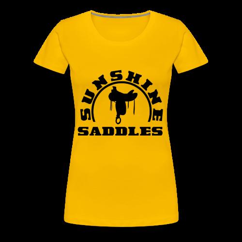 LogoSunshineSaddlesSchwarzTransparent - Frauen Premium T-Shirt