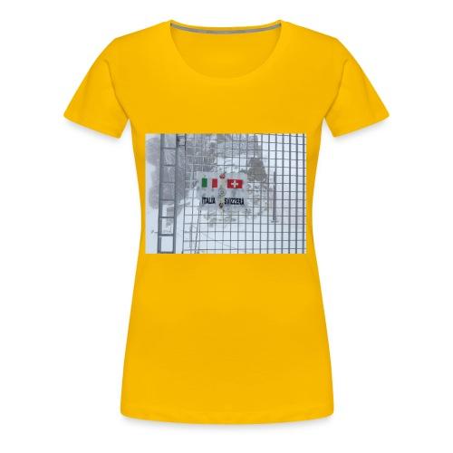frontière italie suisse - T-shirt Premium Femme