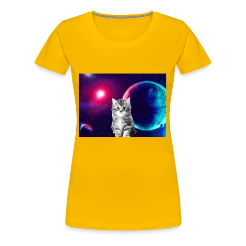 Cute cat in space - Naisten premium t-paita