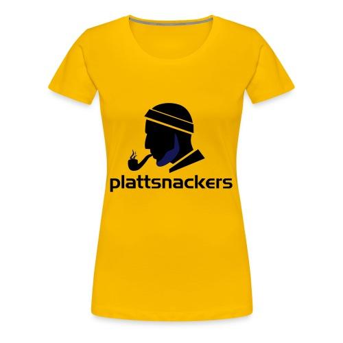 Plattsnackers mit Text - Frauen Premium T-Shirt