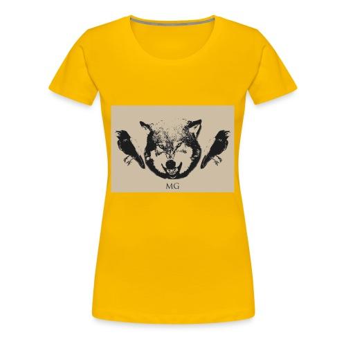 Wolf und Raben - Frauen Premium T-Shirt
