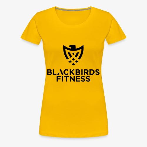 Blackbirds Fitness Logo schwarz - Frauen Premium T-Shirt