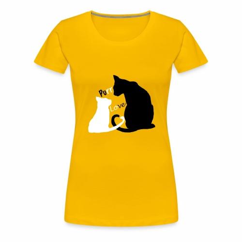 purr love - Frauen Premium T-Shirt