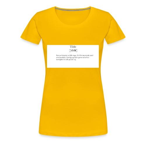 t-shirt_tilde - Dame premium T-shirt