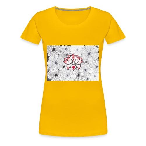 Lotus Heart - Maglietta Premium da donna