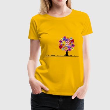 Flowers tree - Women's Premium T-Shirt