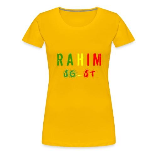 t-shirt design Rahim - T-shirt Premium Femme