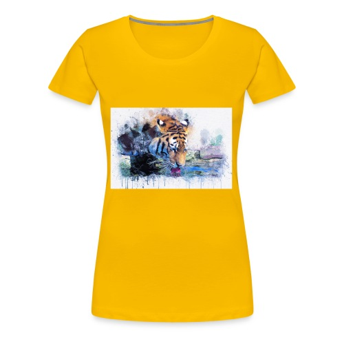 tiger drinking water - Women's Premium T-Shirt