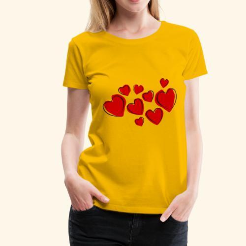 9 Herzen - Frauen Premium T-Shirt
