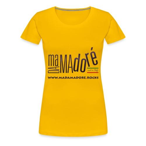 T-Shirt - Donna - Logo Standard + Sito - Maglietta Premium da donna