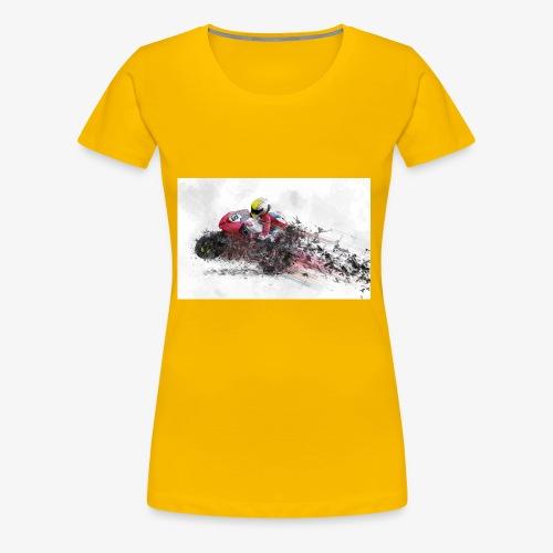 Motorradrennen. Das Geschenk für Motorradfans - Frauen Premium T-Shirt