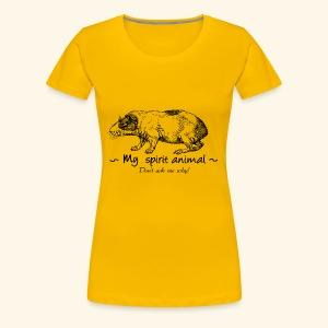 Le cochon d'Inde est mon animal totem. - T-shirt Premium Femme