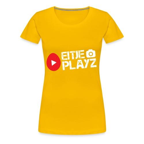 Wit Eitje Playz logo - Vrouwen Premium T-shirt