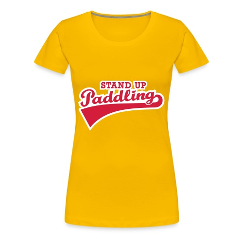 Stand up Paddling Retro - Frauen Premium T-Shirt