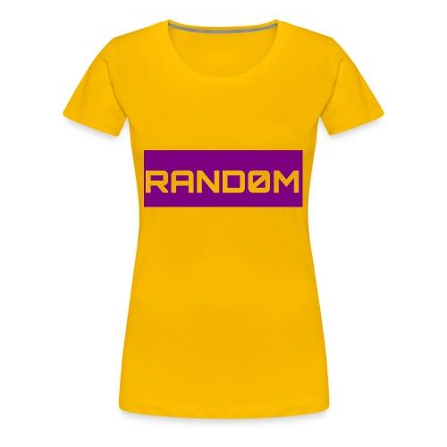 RAND0M SMALL LOGO - Women's Premium T-Shirt