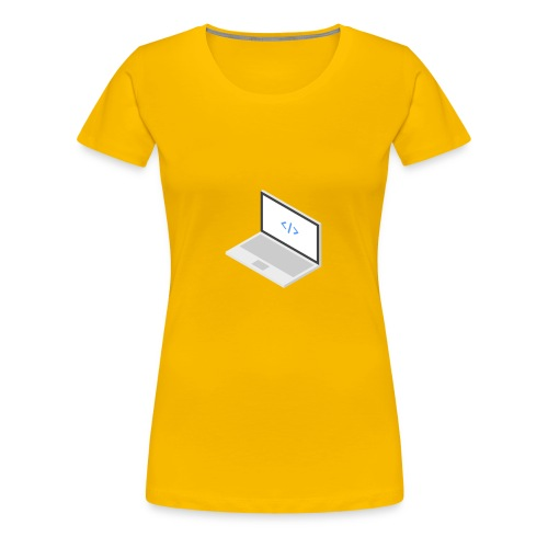 Laptop - Frauen Premium T-Shirt