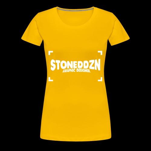 Da ist das YouTube Logo von StonedDzn - Frauen Premium T-Shirt