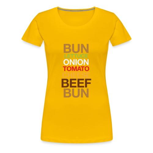 Cheese burger - Women's Premium T-Shirt
