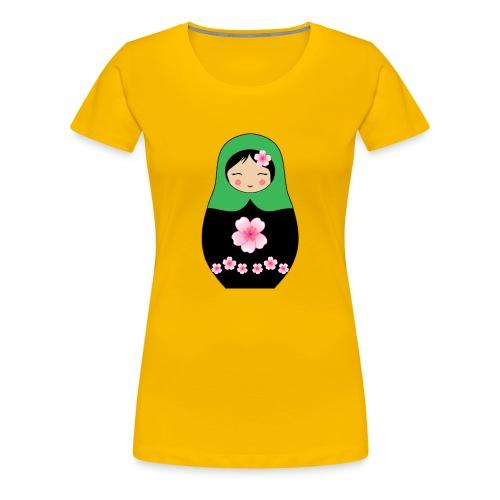 Matroschka Puppe grün - Frauen Premium T-Shirt