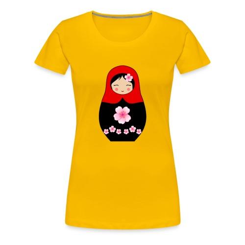 Matroschka Puppe Rot - Frauen Premium T-Shirt