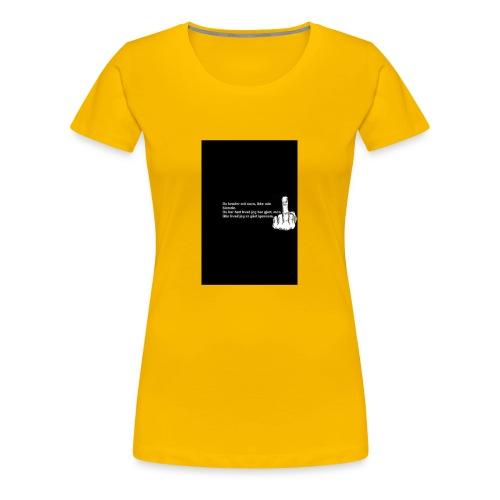 du kender mig ikke - Dame premium T-shirt